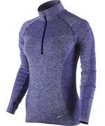 bluza do biegania damska NIKE DRI-FIT KNIT 1/2 ZIP / 719469-457
