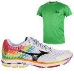 buty do biegania męskie MIZUNO WAVE RIDER 18 OSAKA + koszulka GRATIS / J1GC150870