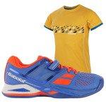 buty tenisowe męskie BABOLAT PROPULSE CLAY + koszulka BABOLAT / 30S16425-209