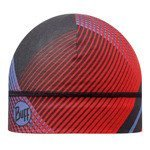czapka do biegania BUFF MICROFIBER 1 LAYER HAT BUFF RETRO LINES RED / 108907.425.10