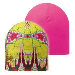 czapka dwustronna do biegania BUFF MICROFIBER REVERSIBLE HAT BUFF STATICS LIME / 108911.801.10