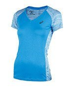 koszulka do biegania damska ASICS FUZEX V-NECK SHORT SLEEVE TOP / 141214-8012
