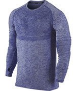 koszulka do biegania męska NIKE DRI-FIT KNIT LONG SLEEVE / 717760-457