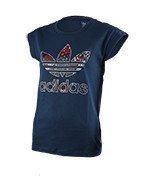 koszulka sportowa damska ADIDAS BOYFRIEND ROLL UP TEE / AY8376