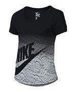koszulka sportowa dziewczęca NIKE TRIBLEND FUTURA PRINT TEE / 828454-010