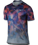 koszulka tenisowa męska NIKE DRY ADVANTAGE POLO SHORT SLEEVE US OPEN 2017 / 854605-497