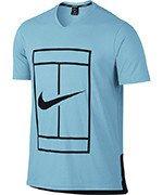 koszulka tenisowa męska NIKE DRY TOP BASELINE / 848388-432