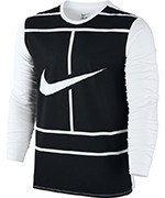 koszulka tenisowa męska NIKE PRACTICE COURT LOGO LONG SLEEVE TEE / 844161-100