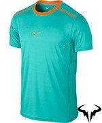 koszulka tenisowa męska NIKE PREMIER RAFA CREW Rafael Nadal China Open 2014 / 621055-388