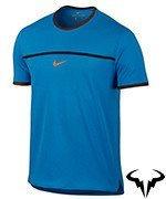 koszulka tenisowa męska NIKE RAFA CHALLENGER TOP SHORT SLEEVE PREMIER / 801704-434