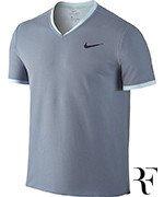 koszulka tenisowa męska NIKE RF DRY TOP SHORT SLEEVE VNECK TEE  / 801710-449