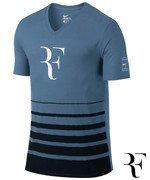 koszulka tenisowa męska NIKE ROGER SHORTSLEEVE V-NECK TEE / 777865-404