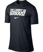 koszulka tenisowa męska NIKE YOU CANNOT BE SERIOUS TEE / 621723-010