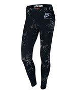 spodnie sportowe damskie NIKE LINTERNATIONAL LEGGING ALLOVER PRINTED / 827298-010