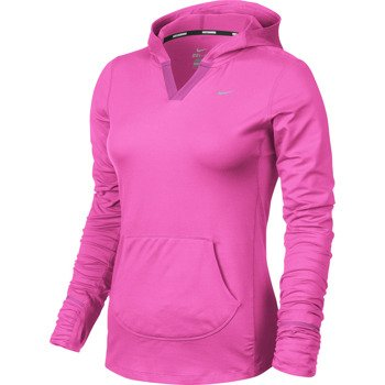 bluza do biegania damska NIKE ELEMENT HOODY SOLID / 545894-667