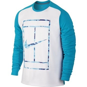bluza tenisowa męska NIKE PRACTICE LONGSLEEVE CREW / 685323-407