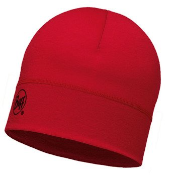 czapka do biegania BUFF MERINO WOOL 1 LAYER HAT BUFF SOLID GRANA / 113013.427.10