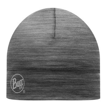 czapka do biegania BUFF MERINO WOOL HAT BUFF SOLID GREY / 111162.937.10
