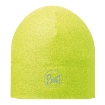 czapka do biegania BUFF MICROFIBER 2 LAYERS HAT BUFF SOLID YELLOW / 111397.117.10