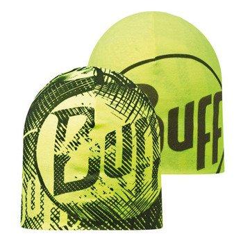 czapka dwustronna do biegania BUFF MICROFIBER REVERSIBLE HAT BUFF LOG US / 108918.999.10