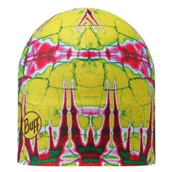 czapka dwustronna do biegania BUFF MICROFIBER REVERSIBLE HAT BUFF STATICS LIME / 108911.801.10