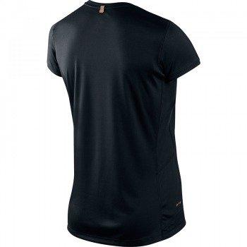 koszulka do biegania damska NIKE MILER SHORTSLEEVE CREW TOP / 519829-010