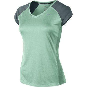 koszulka do biegania damska NIKE MILER SHORTSLEEVE V-NECK TOP / 519831-308