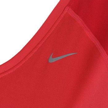 koszulka do biegania damska NIKE MILER SHORTSLEEVE V-NECK TOP / 519831-602