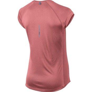 koszulka do biegania damska NIKE MILER SHORTSLEEVE V-NECK TOP / 519831-654