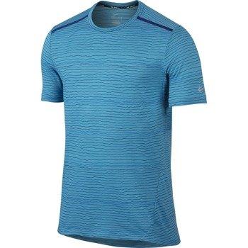 koszulka do biegania męska NIKE DRI-FIT COOL TAILWIND STRIPE SHORT SLEEVE  / 724809-418