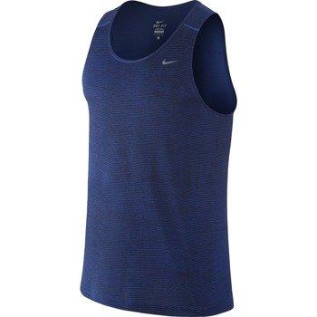 koszulka do biegania męska NIKE PRINTED MILER SINGLET / 644329-480
