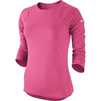 koszulka tenisowa damska NIKE BASELINE 3/4 SLEEVE TOP / 558819-667