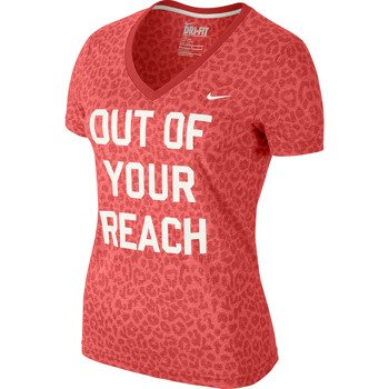 "koszulka tenisowa damska NIKE ""OUT OF YOUR REACH"" T-SHIRT / 632395-660"