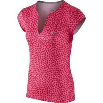 koszulka tenisowa damska NIKE PRINTED PURE SHORTSLEEVE TOP / 683151-616