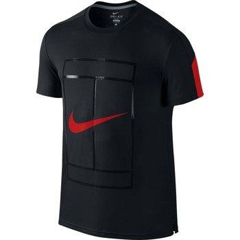 koszulka tenisowa męska NIKE COURT GRAPHIC CREW / 729262-010