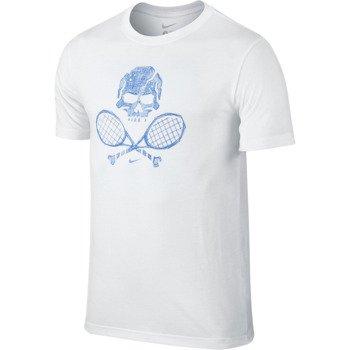 koszulka tenisowa męska NIKE SKULL & RACQUETS TEE 2 / 639425-100