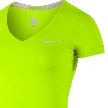 koszulka termoaktywna damska NIKE PRO SHORTSLEEVE V-NECK / 589370-702