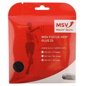 naciąg tenisowy MSV FOCUS HEX PLUS25 12M BLACK
