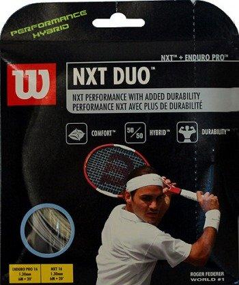 naciąg tenisowy hybrydowy WILSON NXT DUO 12M