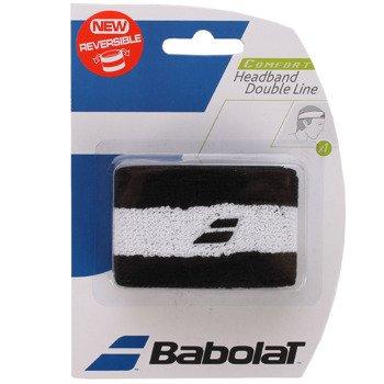 opaska tenisowa BABOLAT HEADBAND DOUBLE LINE BLACK/WHITE