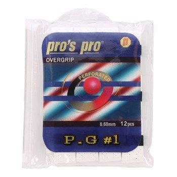 owijki tenisowe PRO'S PRO OVERGRIP P.G.1 WHITE X12 / TOPP-068