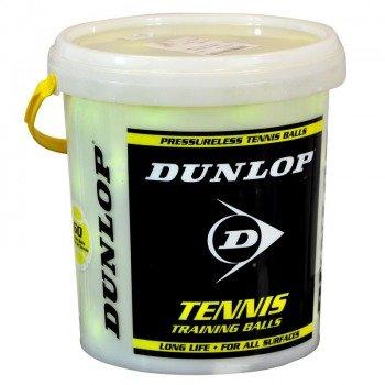piłki tenisowe DUNLOP TRAINING x 60szt. white/yellow  / WIADRO