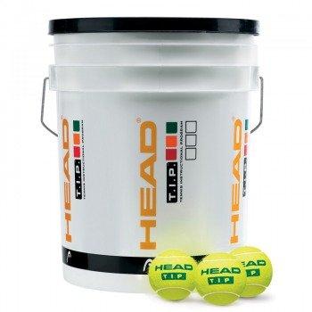 piłki tenisowe wiadro HEAD TIP X60 WIADRO GREEN / 578260