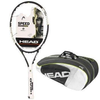 rakieta tenisowa HEAD GRAPHENE XT SPEED PRO  + torba tenisowa HEAD NOVAK DJOKOVIC SUPERCOMBI