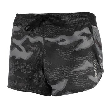 spodenki sportowe damskie REEBOK WORKOUT READY WOVEN ALLOVER PRINTED CAMO SHORT / AJ3466