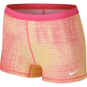 spodenki tenisowe damskie NIKE SLAM PRINTED SHORT / 646200-667