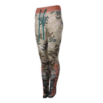 spodnie do biegania damskie ENDORFINA LEGGINS RUN CAMO / JZ16-5627