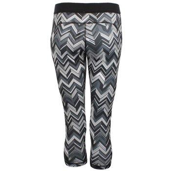 spodnie sportowe damskie 3/4 ADIDAS TECHFIT CAPRI ALL OVER PRINTED TIGHT / F95013