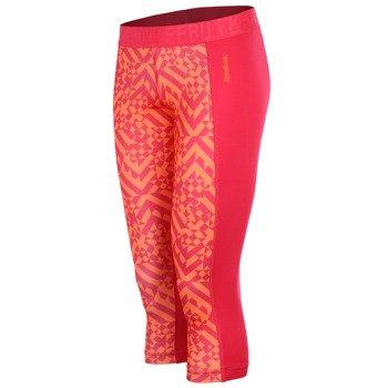 spodnie sportowe damskie 3/4 REEBOK WORKOUT READY PRINTED CAPRI / B86326