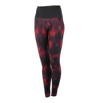 spodnie sportowe damskie ADIDAS HIGH-RISE LONG TIGHT ALLOVER PRINTED / AY6180